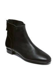 Delman Myth Leather Ankle Boots Black