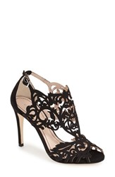 Women's Klub Nico 'Marcela' Laser Cutout Sandal Black Leather