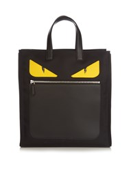 Fendi Bag Bugs Nylon And Leather Tote Black Multi