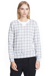 Junya Watanabe Foiled Jacquard Sweater White Silver