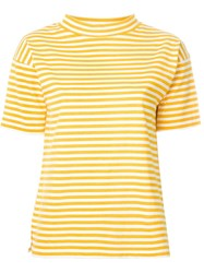 Mih Jeans Striped T Shirt White