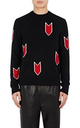 Rag And Bone Men's Jackson Arrow Pattern Wool Sweater Black