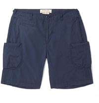 Remi Relief Slim Fit Cotton And Nylon Blend Cargo Shorts Navy