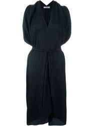 Etro Pleated Tie Waist Dress Black