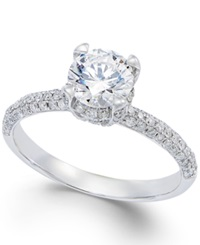 Macy's Certified Diamond Engagement Ring In 14K White Gold 1 2 3 Ct. T.W.