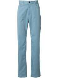 Cerruti 1881 Classic Straight Cut Trousers Blue