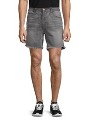 One Teaspoon Phantome Frayed Cuff Denim Shorts