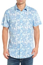 Rodd And Gunn Men's Makarora Regular Fit Print Sport Shirt Aquamarine