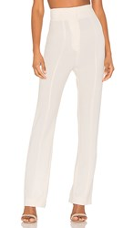 C Meo Collective High Heart Pant In White. Ecru