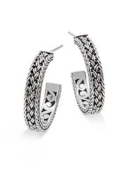Lois Hill Sterling Silver Medium Thai Weave Earrings