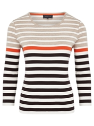 Viyella Cotton Striped Top Multi