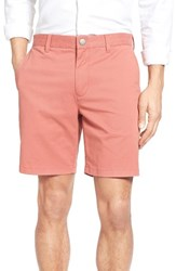 Bonobos Men's Stretch Washed Chino 7 Inch Shorts Rich Coral