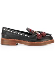 Tod's Stitched Tassel Loafers Black