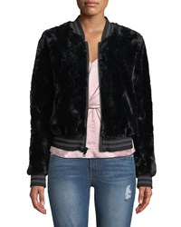 Bailey 44 Back Country Sporty Faux Fur Bomber Jacket Black