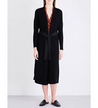 Sandro Cooper Wool And Cashmere Blend Cardigan Noir