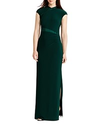 Ralph Lauren Silk Inset Gown English Green