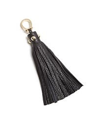 Etienne Aigner Long Pebbled Tassel Key Fob Black