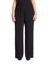 Caroline Rose Jersey Straight Leg Pants Black