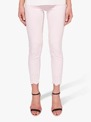 Ted Baker Massie Embroidered Skinny Jeans Pink Nude