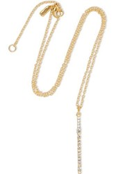 Elizabeth And James Twiggy Gold Tone Crystal Necklace Gold