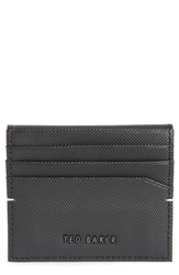 Ted Baker London Micro Perforated Leather Bifold Card Holder Black