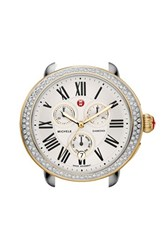 Women's Michele 'Serein' Diamond Two Tone Watch Case 40Mm X 38Mm Gold Silver