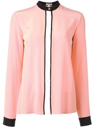 Kenzo Colour Block Blouse Pink Purple