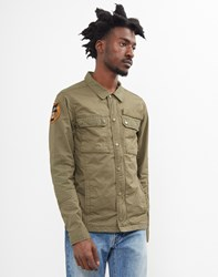 Schott Nyc Fitted Army Jacket Green