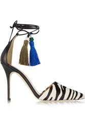 J.Crew Zebra Print Calf Hair And Leather Pumps