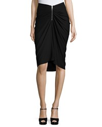 Michael Kors Ruched Front Pencil Skirt Black