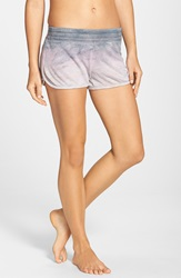 Hard Tail 'Runner' Knit Shorts Pale Pink Dusk Tie Dye