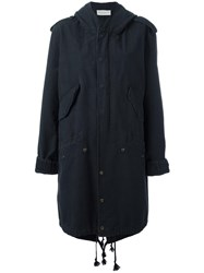 Faith Connexion Concealed Fastening Oversized Coat Black