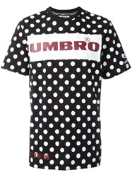 House Of Holland Umbro Plastisol Dotted T Shirt Black