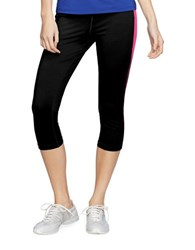 Lauren Ralph Lauren Cropped Colorblock Leggings Black Pink
