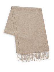 Yves Saint Laurent Wool And Cashmere Scarf Sand