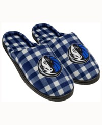 Forever Collectibles Dallas Mavericks Flannel Slide Slippers Blue