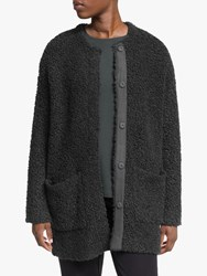 Eileen Fisher Round Neck Cardigan Charcoal