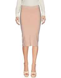 .. Merci Knee Length Skirts Pink
