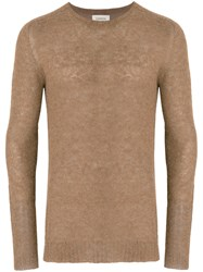 Laneus Crew Neck Jumper Polyamide Alpaca Brown
