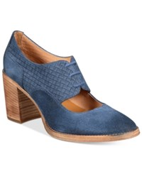Patricia Nash Agata Block Heel Oxford Pumps Women's Shoes Oxford Blue