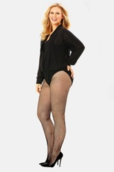 Mynt 1792 Double Layer Bodysuit With Lace Bottom Plus Size Black