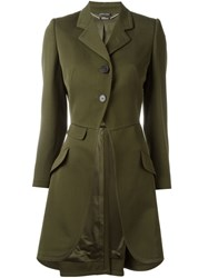 Alexander Mcqueen Single Breasted Coat Green