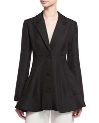 Co Three Button A Line Jacket Black