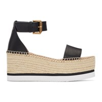 See By Chloe Black Gyln Espadrilles Sandals