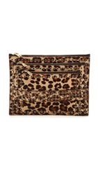 Ash Haircalf Ruby Eyelet Clutch Leopard
