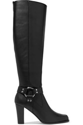Altuzarra Lucy Leather Knee Boots Black