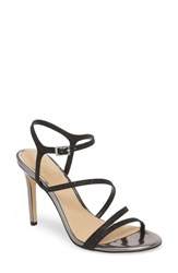 Jewel Badgley Mischka Maddison Sandal Black Glitter Fabric