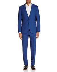 Hugo Solid Regular Fit Suit Bright Blue
