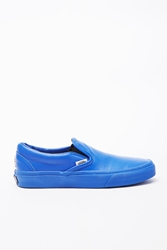 Opening Ceremony Vans Caviar Textured Leather Slip Ons Cerulean Blue