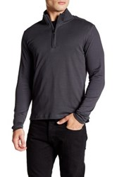 Robert Barakett Jefferson Half Zip Long Sleeve Shirt Metallic